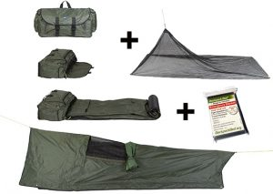 All weather homeless Backpack Bed