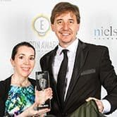 Trophy-shot-Backpack-Bed-Award-Ceremony-Edison-Awards-at-Navy-Pier-Chicago-25-April-2013-Swags-for-Homeless-circle